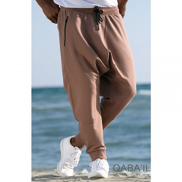 Harem pants jogging athletik - camel - Qaba'il
