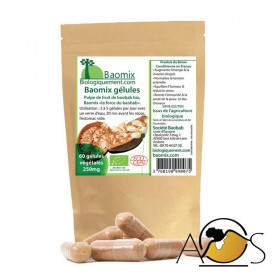 Baobab fruit pulp powder capsules bio