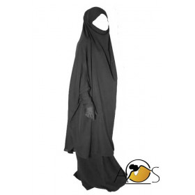 jilbab 2pcs intense black skirt - cust'oum