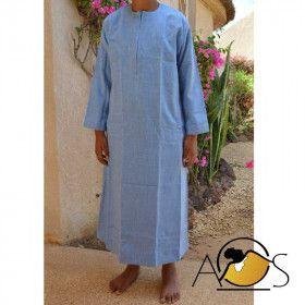 Qamis Emirati Enfant bleu ciel - custom qamis