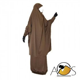 jilbab 2pcs intense brown - cust'oum