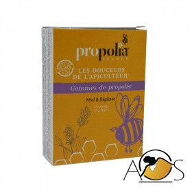 Organic propolis, honey and licorice gums