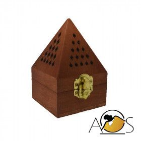 Wood incense burner - dakar- various color