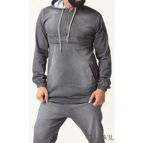 kameron sweatshirt - grey  - Qaba'il