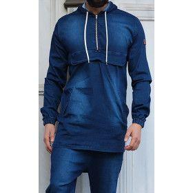 kameron sweatshirt - dark blue - Qaba'il