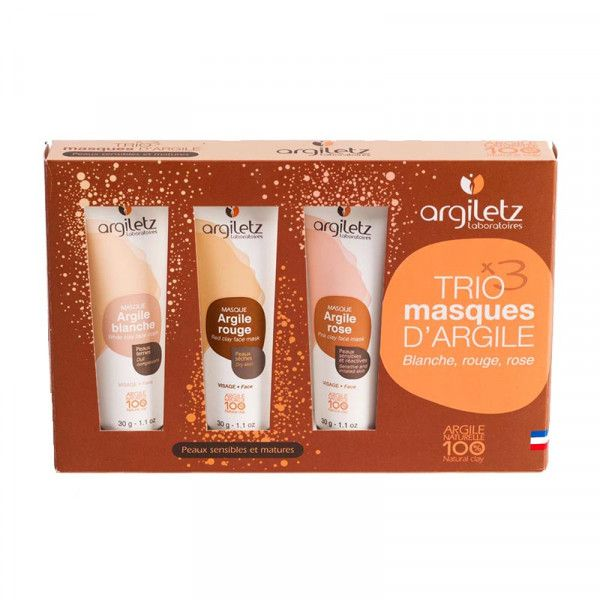 Clay mask trio set - Sensitive skin