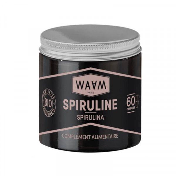 Organic spirulina capsules
